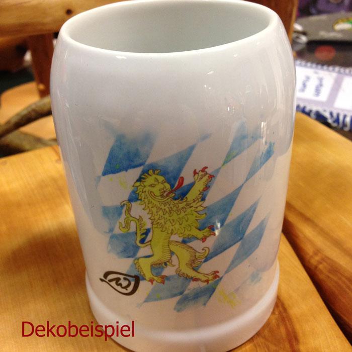 Waldrian-Bierkrug mit Künstlermotiv ´bayerischer Löwe´, exklusiv gezeichnet von Bernhard Frotschnig, Tirol