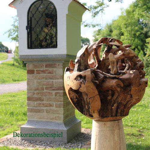 Mächtige Kugel aus Birken-Wurzelstock – Unikat