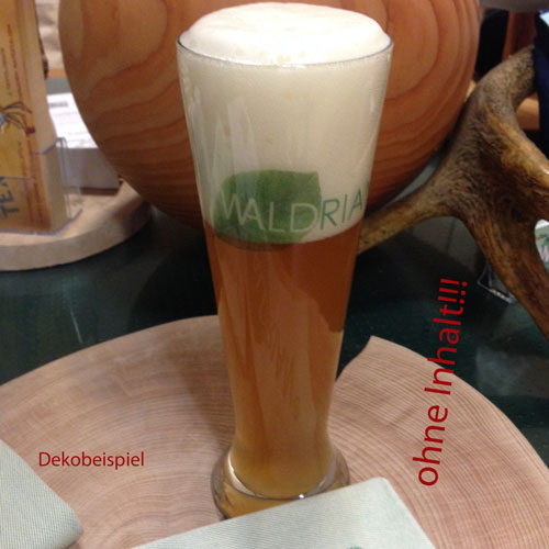 Bedruckbares Weizenbierglas (auf gut bairisch: Weißbierglas) – guad eigschenkt!